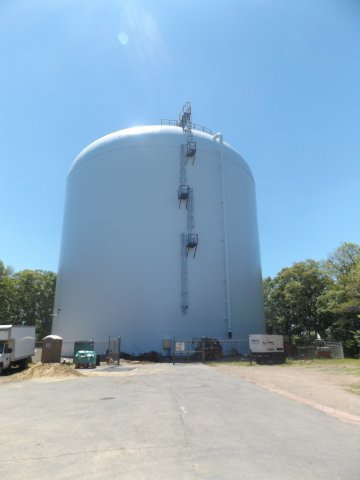 A water tank in Attleboro, MA